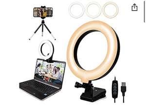 """Anillo de Luz LED de 6 """"con Clip y Trípode Anillo de Luz Selfie con Soporte para Teléfono Luz"""