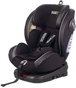 Sparco GR Silla de Coche Giratorio SK600I (Isofix) Negro/Gris 0 hasta 36 kg, 0 hasta 12 años