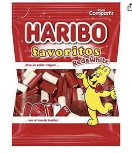 Haribo Mix de piezas de regaliz rojo con sabor a fresa y nata 150g