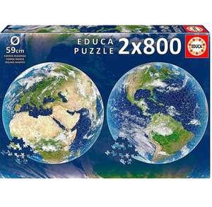 2 Puzzles Educa Planeta Tierra de 800 piezas cada uno