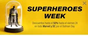 Superhéroes WEEK descuentos hasta el 50% en todo Marvel y DC