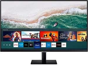 Samsung LS32AM502NRXEN - Monitor Smart de 32'' FullHD, 1920x1080, Smart TV Apps, TV Plus, Altavoces, WiFi, Bluetooth, VA, sin Marcos, Negro