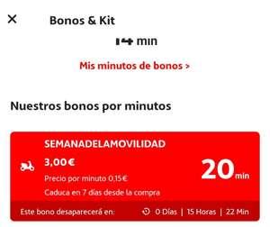 Bono 20 minutos por 3€ Acciona