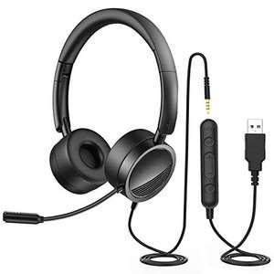Auriculares con Micrófono y Control de Volumen