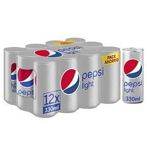 2 Pepsi light pack 12 por 8,26€