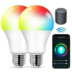 2 Bombillas LED Wifi E27 9W