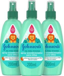[Pack de 3 x 200ml]Johnson's Baby - Acondicionador spray No Más Tirones (Al Tramitar) + Descripción