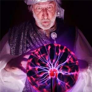 Bola de cristal mágica de plasma de diferentes tamaños