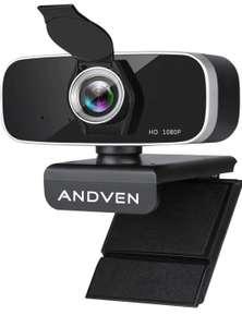 Webcam 1080P Full HD con Micrófono Estéreo y Cubierta de Privacidad