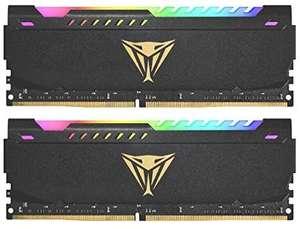 Patriot Memory Viper Steel DDR4 3200 16GB (2x8GB) CL18 Kit LED RGB de Memoria Alto Rendimiento Gris