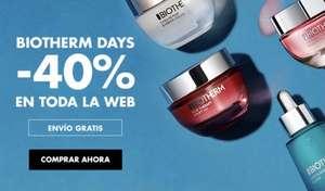 40% TODA LA WEB BIOTHERM + REGALO por compra