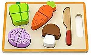 Juguete de madera para apilar y encajar vegetales