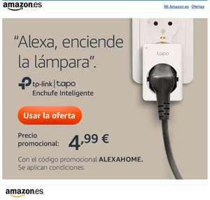 Enchufe inteligente TP-Link TAPO P100 a €4,99 en Amazon para cuentas seleccionadas