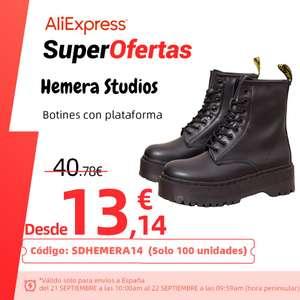 Botas militares con plataforma desde 13,14 euros (A partir del 21 de septiembre)