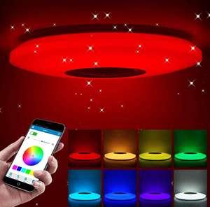 Plafón led RGB con altavoz Bluetooth. 60W 220V Control remoto Diámetro de luz interior 36cm