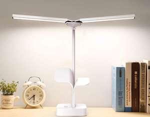 Lámpara Escritorio LED, USB Recargable Regulable, Plegable (3 Modos,Función de Memoria,Control Táctil)