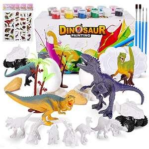 Kit Pintura Dinosaurios, 45 Piezas Juguetes Dinosaurios