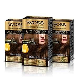 3x Syoss Oleo Intense - Tinte 5-86 Castaño Caramelo