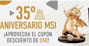 Cupón de 25€ de dto en portátiles seleccionados MSI