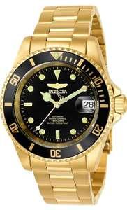 Reloj Invicta dorado automático