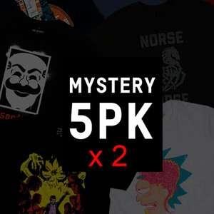 10 Camisetas Frikis Misteriosas (2 packs de 5) por 37€ (Envío Gratuito)