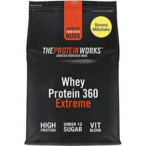 Batido de Proteína Whey 360 Extreme | Bolsa de 600g | Batido sabor plátano | Proteína de suero