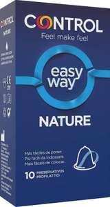 Control Preservativos Easy Way Nature - Caja de condones con aplicador para correcta colocación.10 unidades