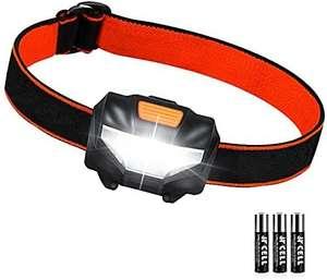 Linterna Frontal LED 3 Modos de Iluminación 60° Ajustable 140 Lúmenes (al tramitar)