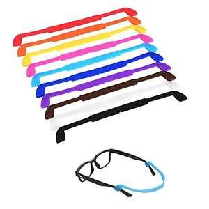 LEEQ 10 Piezas Correa de Gafas de Silicona Cordones de Gafas Retenedor de Gafas de Sol Cuerda de Gafas Antideslizante para los Niño