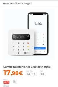 Sumup Datáfono AIR Bluetooth Retail