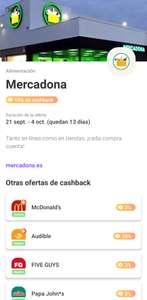 15% de CashBack en Mercadona pagando con VIVID