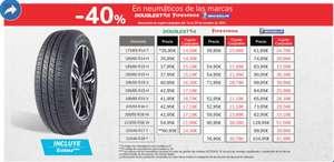 40% en cupón canjeable en neumáticos Carrefour