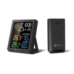 DIGOO DG-8647 Mini pantalla a color HD LCD Estación meteorológica
