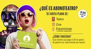 50% de descuento en ABONOTEATRO, la Tarifa plana de Cine y Teatro de Madrid.