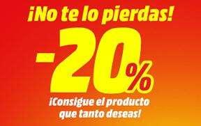-20% Online en una selección en MediaMarkt
