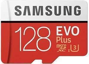 Samsung Evo Plus MicroSDXC 128GB UHS-I U3 Clase 10 + Adaptador