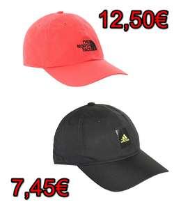 Gorras: Adidas Essentials Logo Lightweight por 7,45€ o North Face Horizon por 12,50€