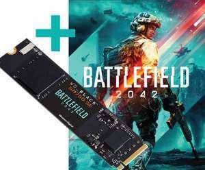 SSD WD BLACK SN750 SE 500GB NVMe 3600 MB/s + Código para PC de Battlefield 2042