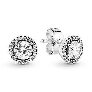 Pandora Pendientes de botón Mujer plata.