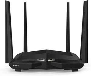 Router WiFi Inalámbrico Gigabit Doble Banda 5GHz 867 Mbps 2,4 GHz 300 Mbps, 4 Antenas 5 dbi, Chip Broadcom 1GHz, Memoria ddr3, Control App