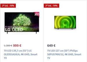 LG OLED55A16LA + Philips 50PUS7406/12 (las 2 por 1203€)