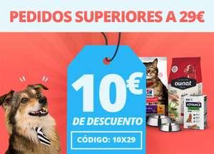 10€ de descuento por compras +29€ en Petsonic