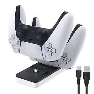 FASTSNAIL Cargador para PS5 Controlador Estación de carga portátil para Playstation 5 Estación de carga Soporte para Sony