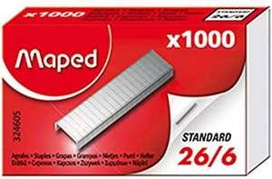 Maped , grapas 26/6, 1000 unidades, en caja (compra mínima 2 unidades)