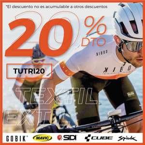 20% de descuento en Textil Ciclismo