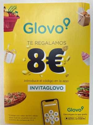 Descuento 8€ GLOVO en Primer Pedido! (12€ Mínimo)