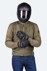 Chaqueta de Moto Course Vento Mesh Verde Oliva