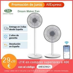 Dream Maker Ventilador inteligente 140° (Desde España)