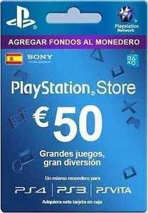 Tarjetas PSN de 50€ a 38€
