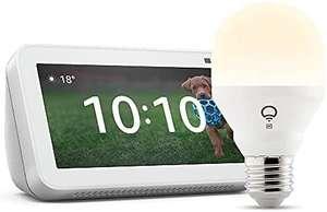 Nuevo Echo Show 5 (2.ª generación, modelo de 2021), Blanco + LIFX Bombilla Inteligente Blanca (E27), compatible con Alexa